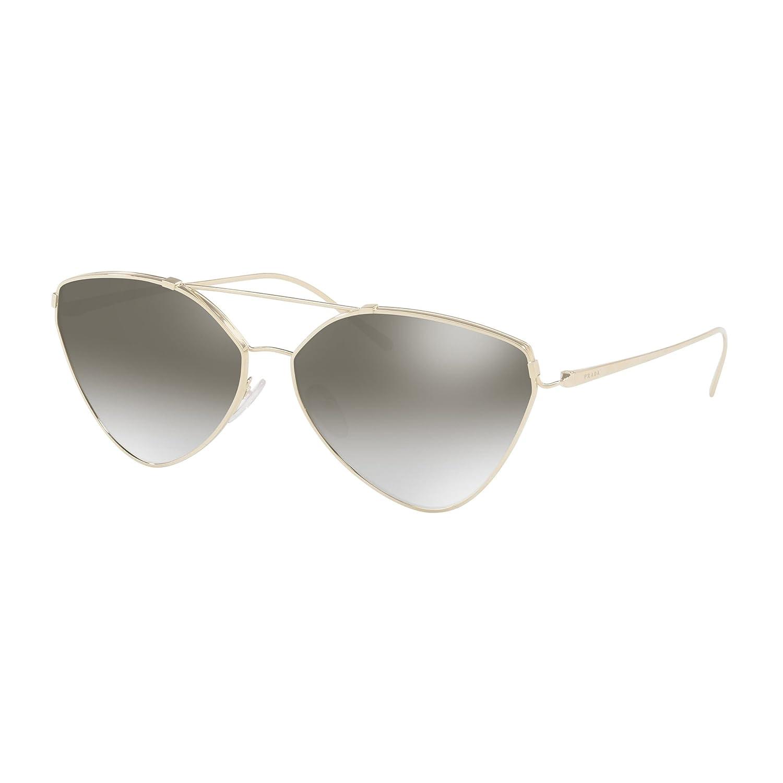 Prada lunettes de soleil pilotes irréguliers en miroir argent pâle PR 51US  ZVN5O0 62  Amazon.fr  Vêtements et accessoires e86fab170f96