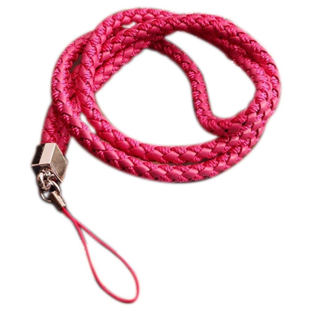 colore rosa 45cm Rosa portachiavi 45/cm lunghezza laccio da collo con cinghia per telefono cellulare unit/à flash USB slot guscio fotocamere Cosanter