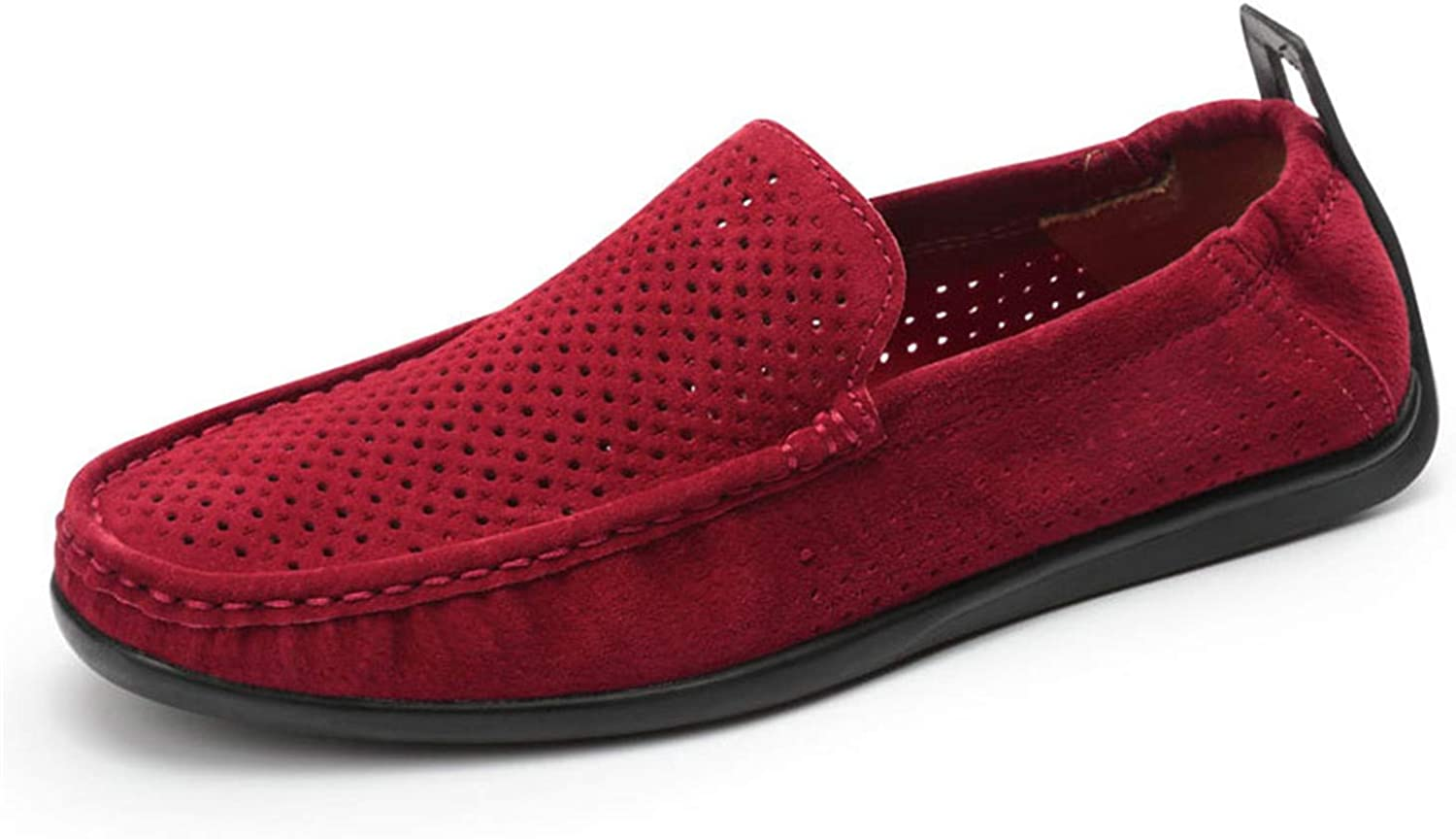 Thadensama Spring Summer Genuine Leather Moccasins Driving Loafers for Men Shoes Flats Breathable Soft Light Footwear Slip On Boat
