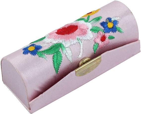 Rosa Chino Seda Flor Pintalabios Espejo Monedero Estuche: Amazon.es: Bricolaje y herramientas