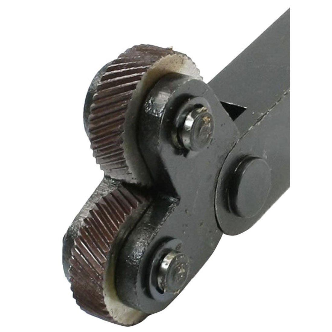 Cikuso 1.8mm espacio Herramienta de moleteado de dientes inclinados de rueda dual para Torno de metal