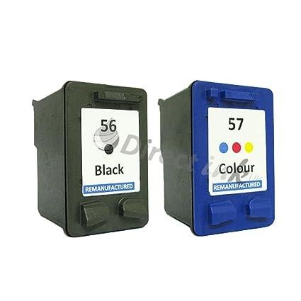 Remanufacturados HP 56/57 negro y color Cartuchos de tinta Combo ...