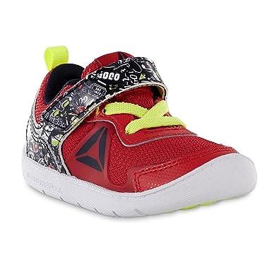 33499719bac9 Reebok Kids Baby Boy s Ventureflex Stride 5 NAA (Toddler) Primal Red Black