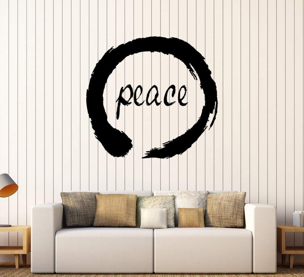 Peace Enso Circle Zen Pegatinas de pared Vinilo Tatuajes de pared ...