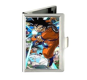 Dragon Ball único personalizado Tarjeta de visita cartera caja de acero inoxidable nombre caso: Amazon.es: Oficina y papelería