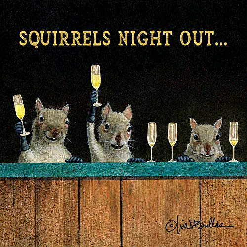 Paperproducts Design Beverage Napkins, Squirrels Night Out