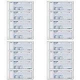 Money Receipt Book 7 x 2 3/4 Carbonless Triplicate 100 Sets/Book, 4 Packs by Rediform