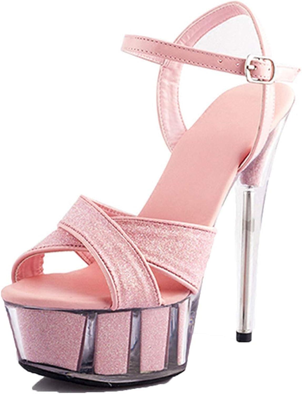 Pumps Platform Shoes High Heels Glitter