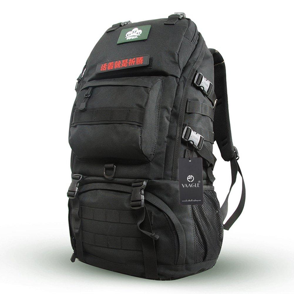 YAAGLE Bergsteigen Taschen outdoor Sporttasche Gepäck groß Fassungsvermögen Camping Reisetasche militärisch Schultertasche