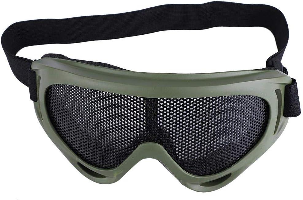 SolUptanisu Gafas Malla Airsoft,Gafas Protección Ocular Táctico Disparo a Prueba de Viento Gafas de Paintball Resistencia a los Golpes para Ciclismo Senderismo Moto Bicicleta