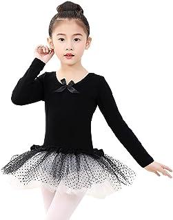 Urmagic Bambine Tutu Danza Abiti | Manica Lunga Ginnastica Leotard | a Un Pezzo Abbigliamento Sportivo | Bambina per Danza e Atletica