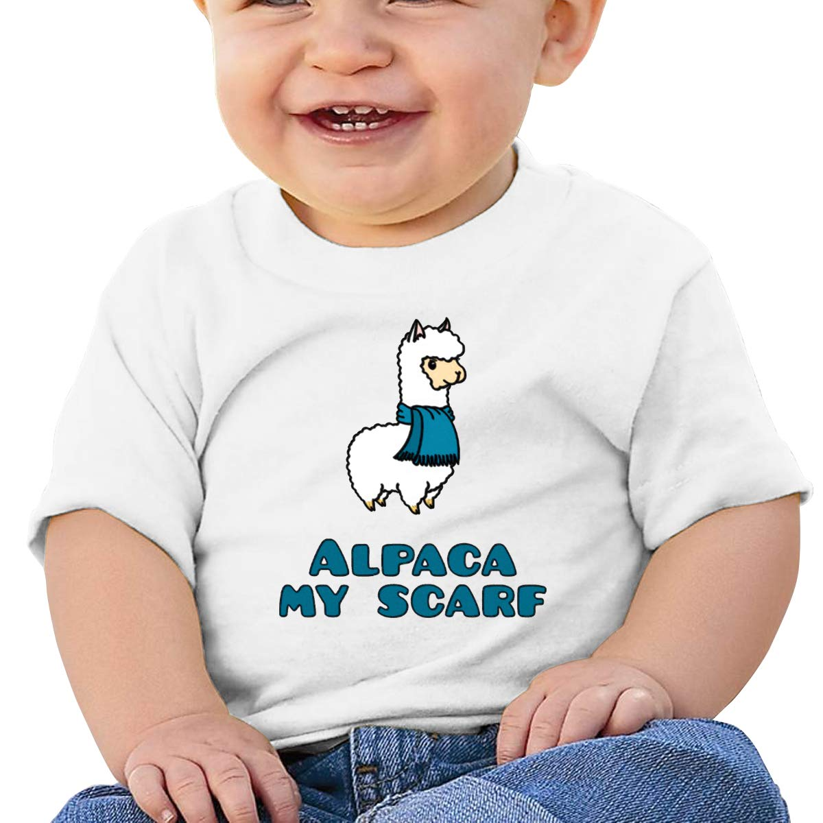 SakanpoAlpaca My Scarf Toddler//Infant Short Sleeve Cotton T Shirts White