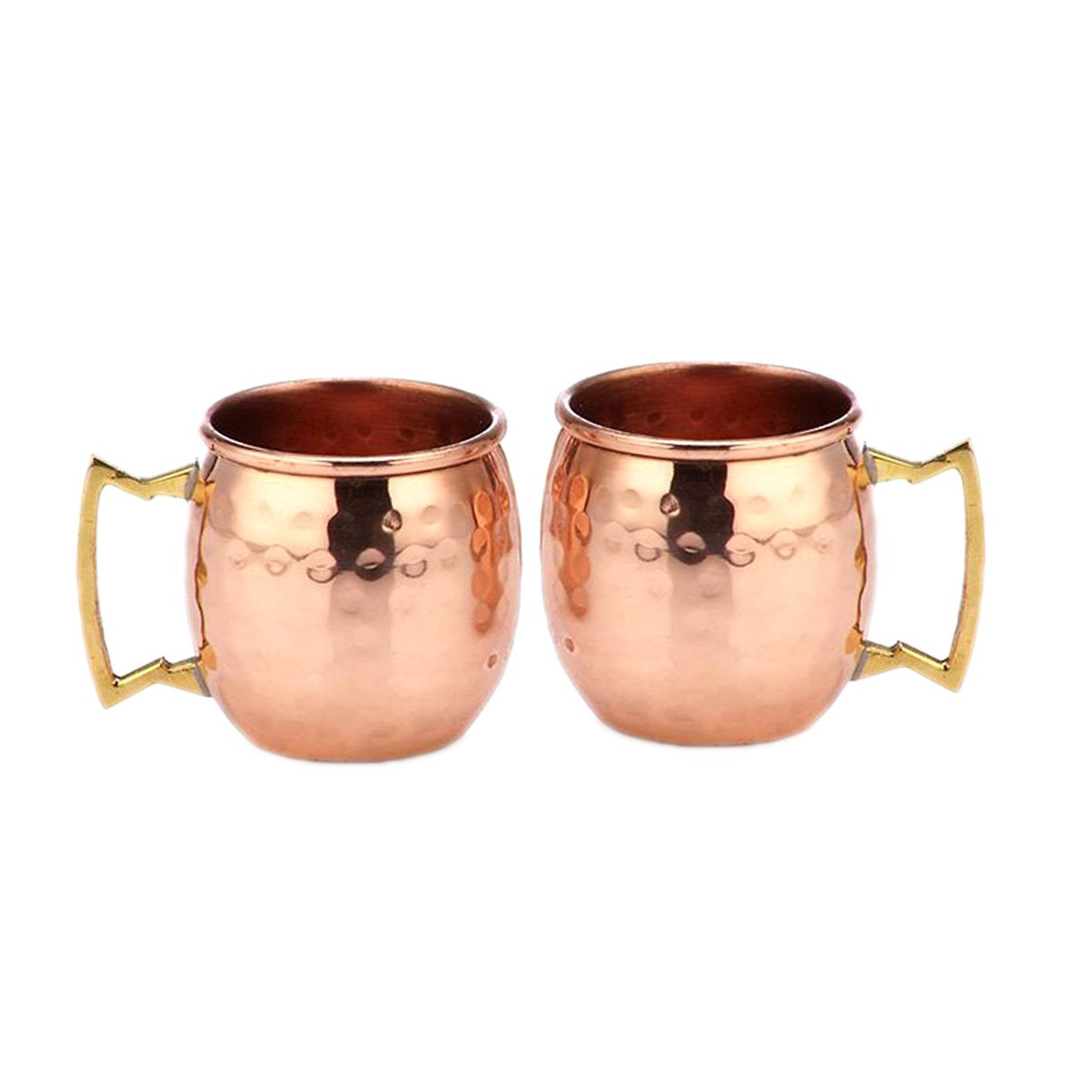 Copper Mini Moscow Mule Shot Mug Authentic and Solid Copper Moscow Mule mugs cups glasses (Hammered, 2-Ounce)