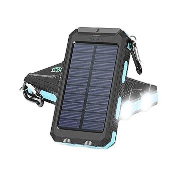 DZWJ Cargador Solar, 10000mAh Cargador de teléfono ...