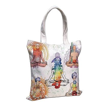 Amazon.com: Cotton Linen Tote Bag, Yoga,Various Different ...