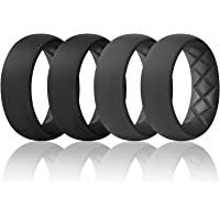 Egnaro Inner Arc Ergonomic Breathable Design, Silicone Rings Mens with Half Sizes, 7 Rings / 4 Rings / 1 Ring Silicone…