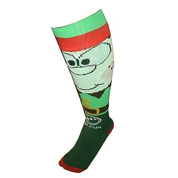 OPTIMUM Elf Calcetines, Hombre, Verde, Large