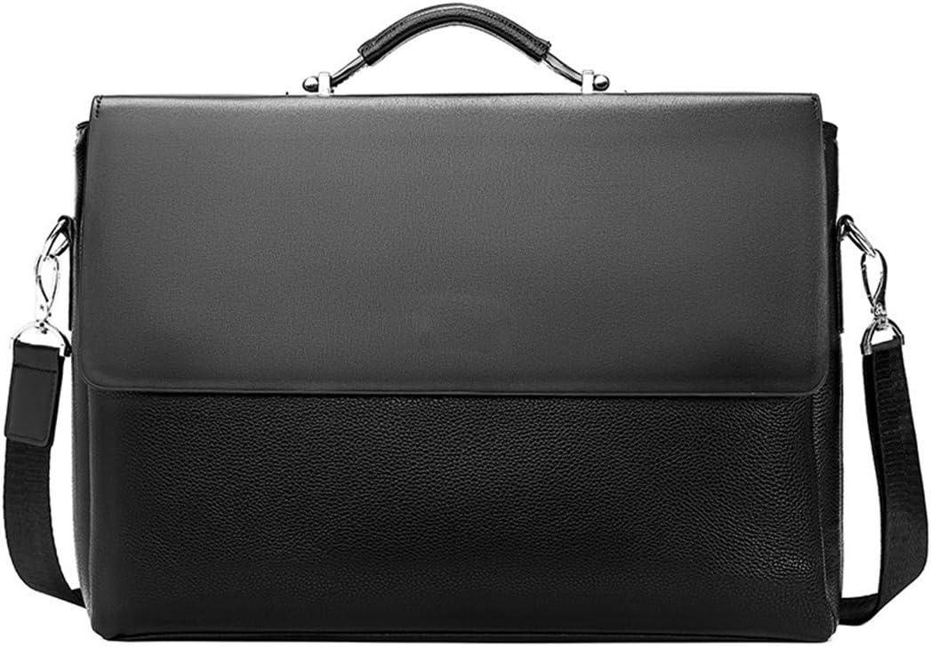 Business Men Briefcase Leather Laptop Handbag Casual Lawyer Shoulder Bag Office Tote Messenger Bag Brown
