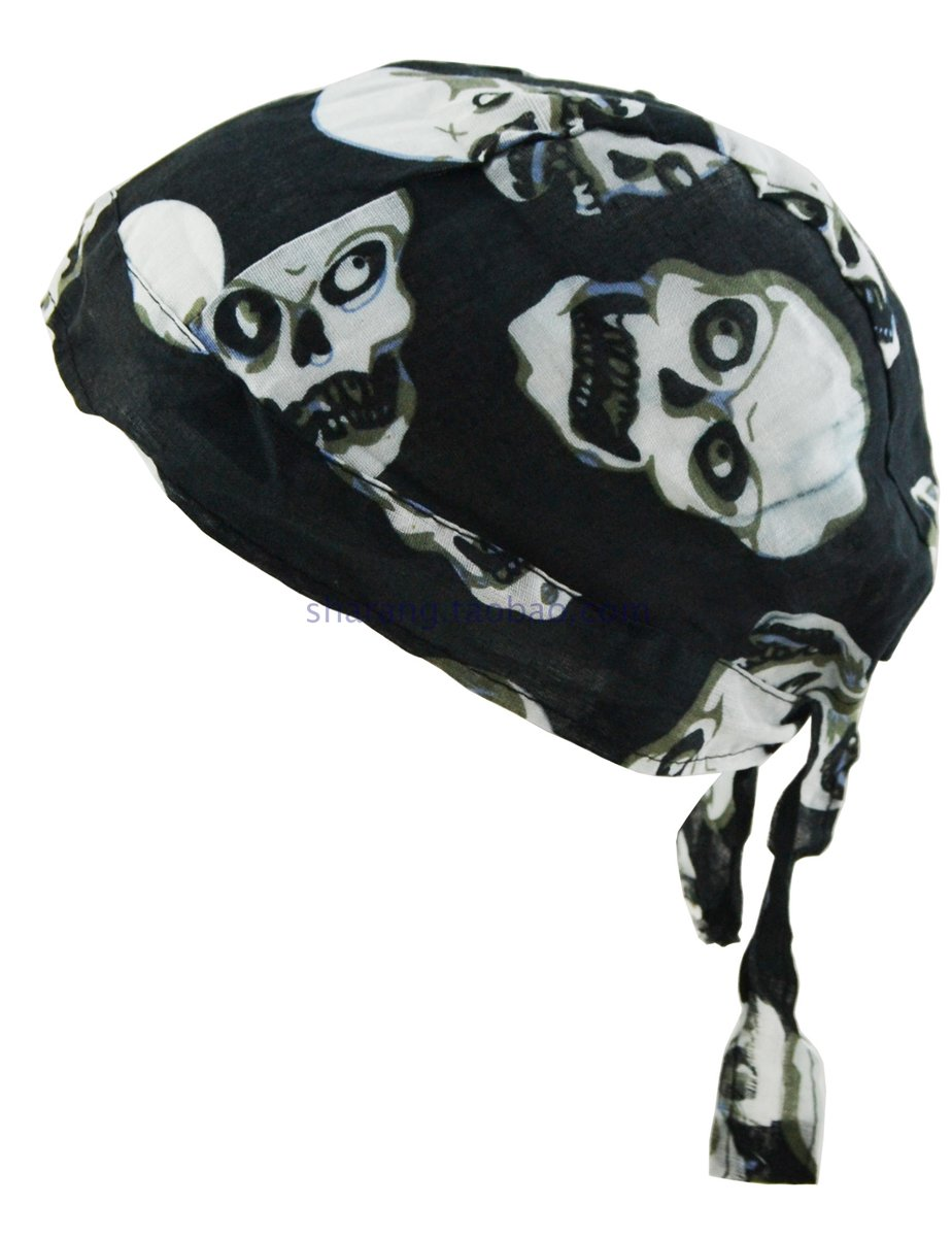 Cotton Bandana-Skull-A