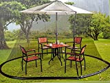 Black Mosquito Netting for 9 ft Market Umbrella