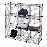 SSW Basics LLC 3 x 3 Mini Black Wire Grid Unit with Back