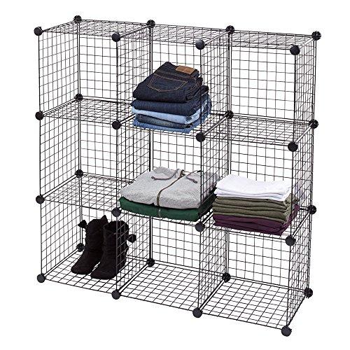 SSW Basics LLC 3 x 3 Mini Black Wire Grid Unit with Back by SSW Basics LLC
