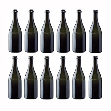 Cartòn de 12 Botellas vacías de Vidrio para Vino Prosecco
