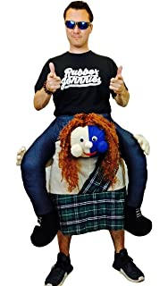 rubber johnnies scottish scotsman ride on riding wallace adult mascot halloween party scotland dress costume with
