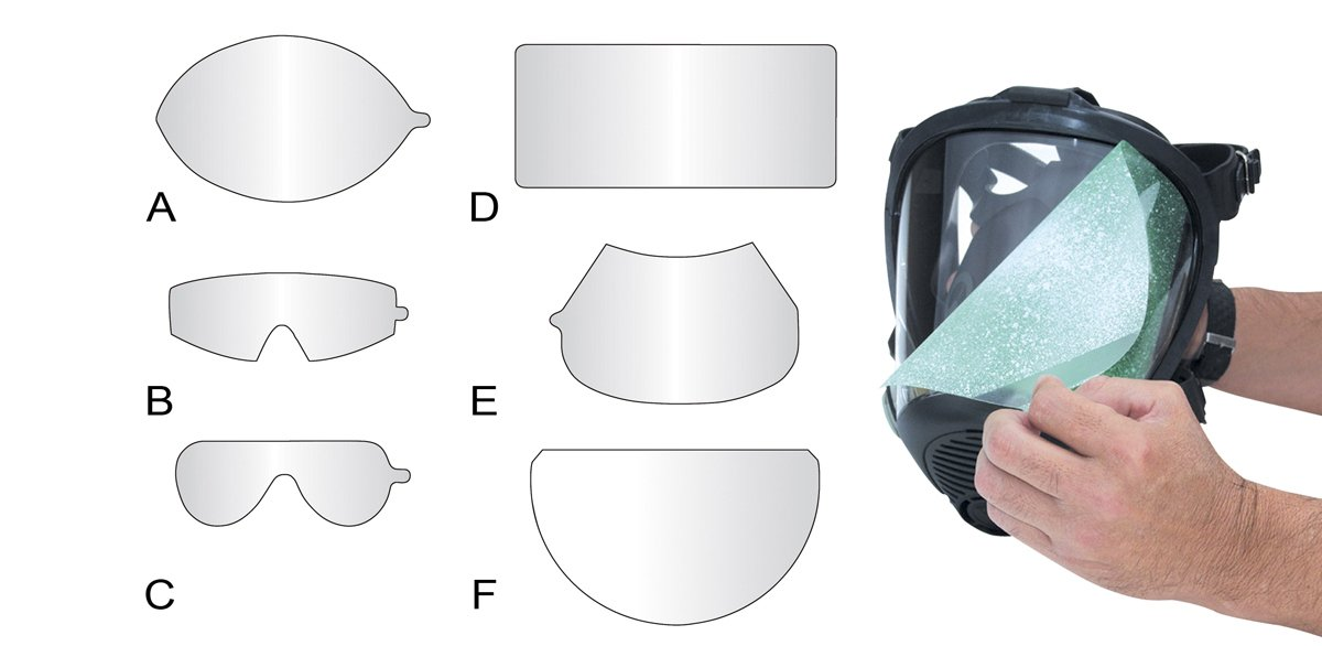 SAS Safety 7600-95 Peel-Away Lens Cover for Opti-Fit Respirator, 25 Per Package, Clear