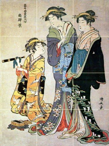Amazon|Gossiping Girls by Japanese – Ancient Artセラミックタイル ...