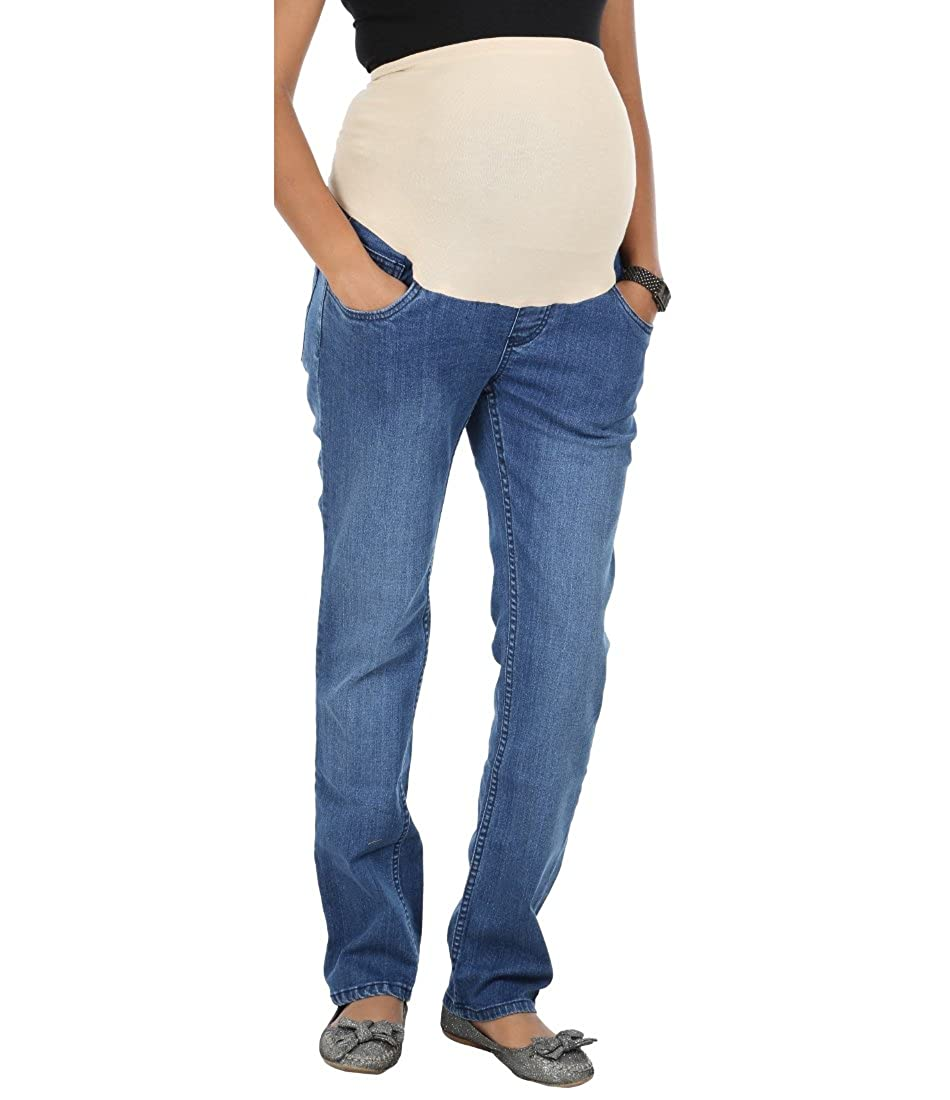 ee48736b4b700 Kriti Western Maternity Tummy Hug Jeans Blue: Amazon.in: Clothing &  Accessories