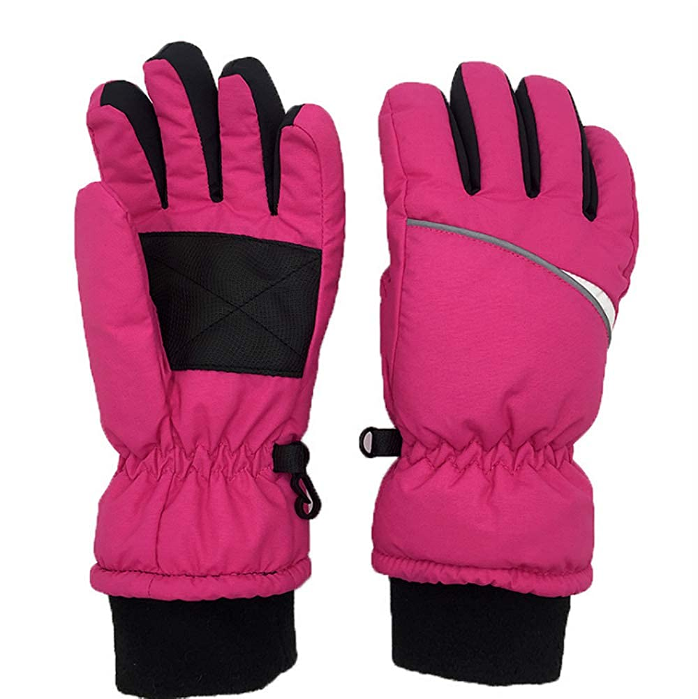 OFUN Winter Snow Ski Gloves, Waterproof Windproof Gloves for Boys Girls Kids