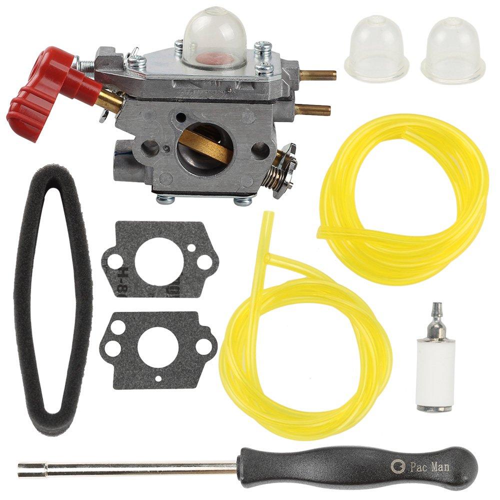 Harbot TB35EC 753-06288 Carburetor + Adjustment Tool + Air Filter for Troy Bilt TB2040XP TB2044XP TB35EC TB2MB TB430 TB225 25CC MTD Craftsman Trimmer Leaf Blower by Harbot