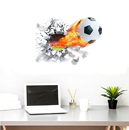New 3D World Cup Football Hole Wall HD PVC Decorative Wall ...