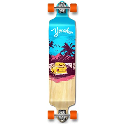 aa85d938516 Yocaher VW Vibe Beach Series Skateboard Longboard Complete Cruiser -  Available in Drop Down