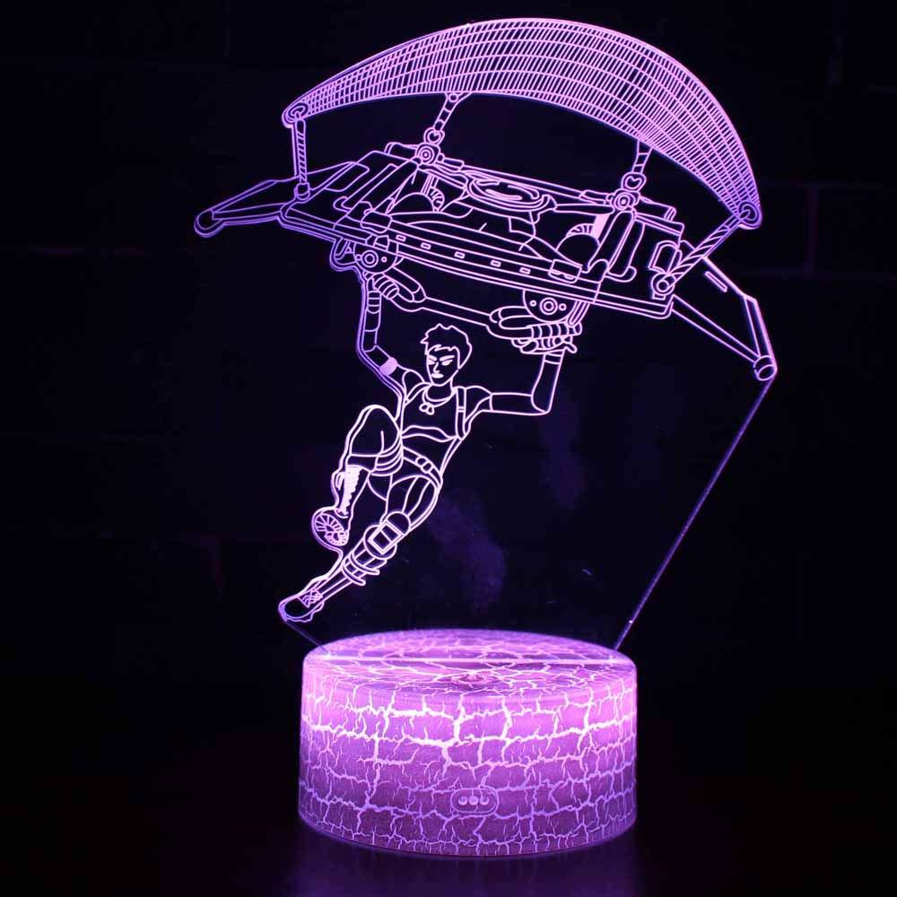 LED L á mpara de Mesa 3D Deporte con Control Remoto Sensor Tacto ... 2a1f132a3e3