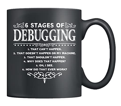 The 6 Stages of Debugging Mug