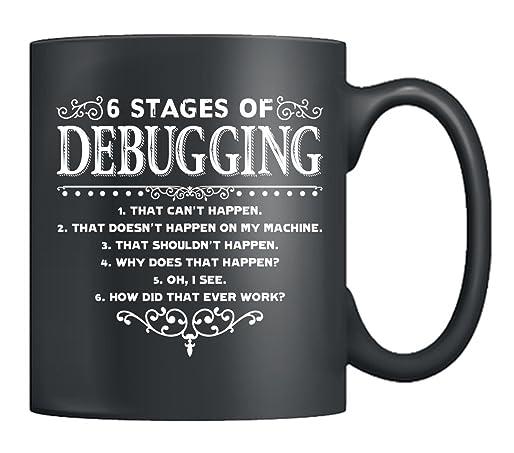 The 6 Stages of Debugging Mug