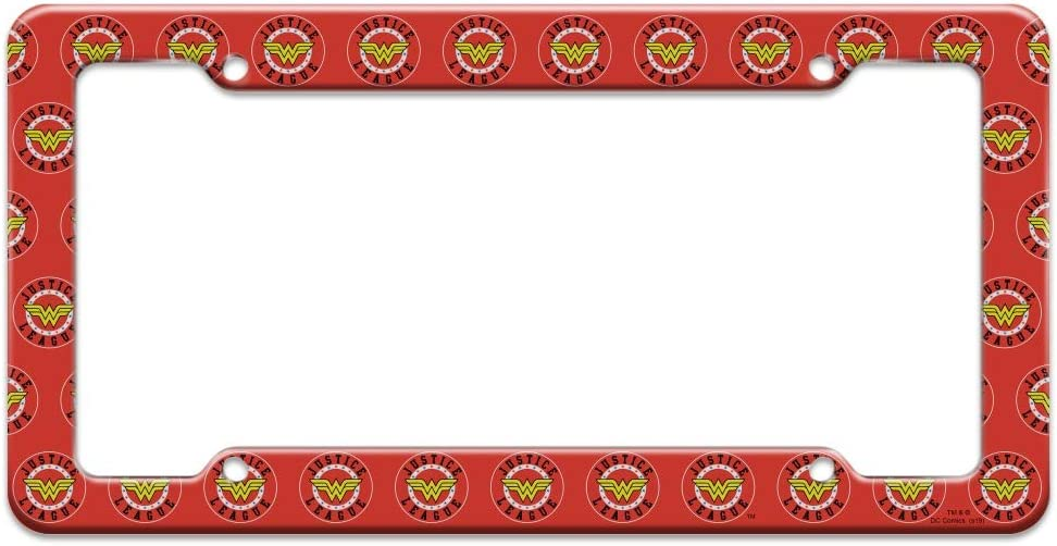Graphics and More Justice League Wonder Woman Athletic Logo License Plate Tag Frame