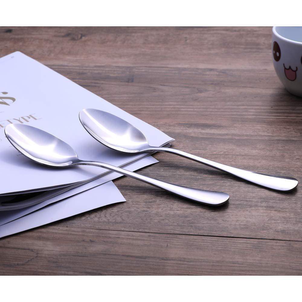cucchiaio da minestra Cucchiaio in acciaio INOX set da 6 cucchiaio da tavola 20,6 cm
