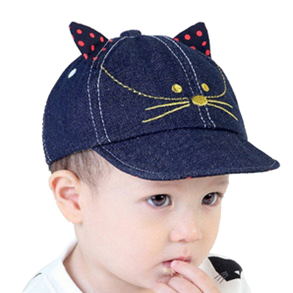 Littleice Cute Kids Boy Girl Comfortable Bongrace Hat Peak Cap Cat Kitten Cartoon