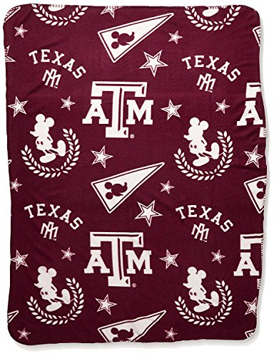 The Northwest Company Officially Licensed NCAA Texas A&M Aggies Co Disney's Mickey Hugger and Fleece Throw Blanket Set