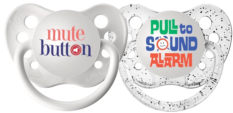 Ulubulu Pacifiers - 6-18 months - Mute Button & Alarm - 2 pk