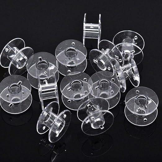 Bobinas de plástico para máquina de Coser con Caja de Almacenamiento de Hilo para Accesorios de Costura del hogar: Amazon.es: Hogar