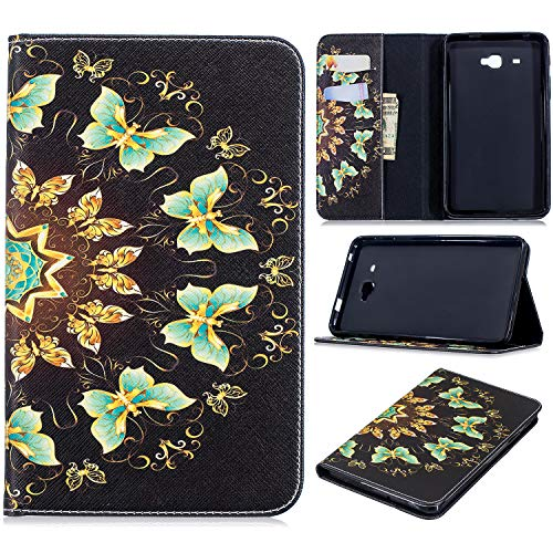 Galaxy Tab A 7.0 Case, KMISS Stylish Art Printed Ultra Lightweight Protective Stand Cover Wallet Case with Card/Cash Slots for Samsung Galaxy Tab A 7.0