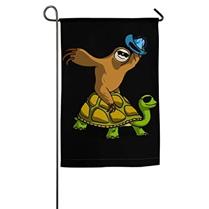 Amazon.com: Bandera de tortuga de perezoso para jardín, para ...