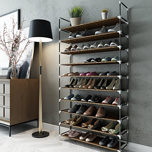 Sable Shoe Rack 10 Tier Shoe Storage For 50 Pairs Of