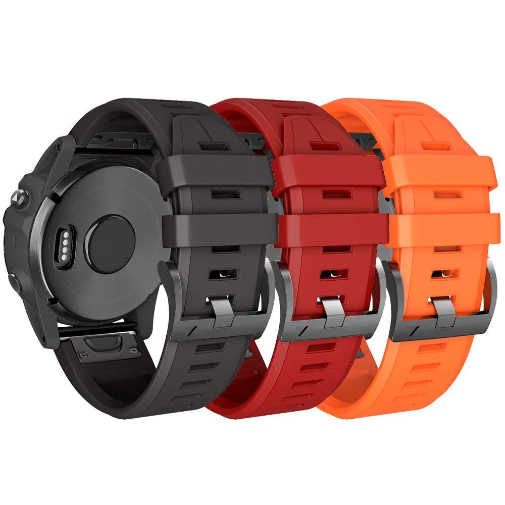 NotoCity Correa Compatible con Garmin Fenix 5/Fenix 5 Plus/Fenix 6/Fenix 6 Pro/Forerunner 935/945/Instinct, 22 mm Quick Fit Pulsera de Silicona