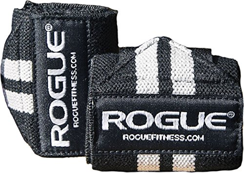 "Rogue Fitness Wrist Wraps, Short 12"", Black, Power/Weight Lifting"