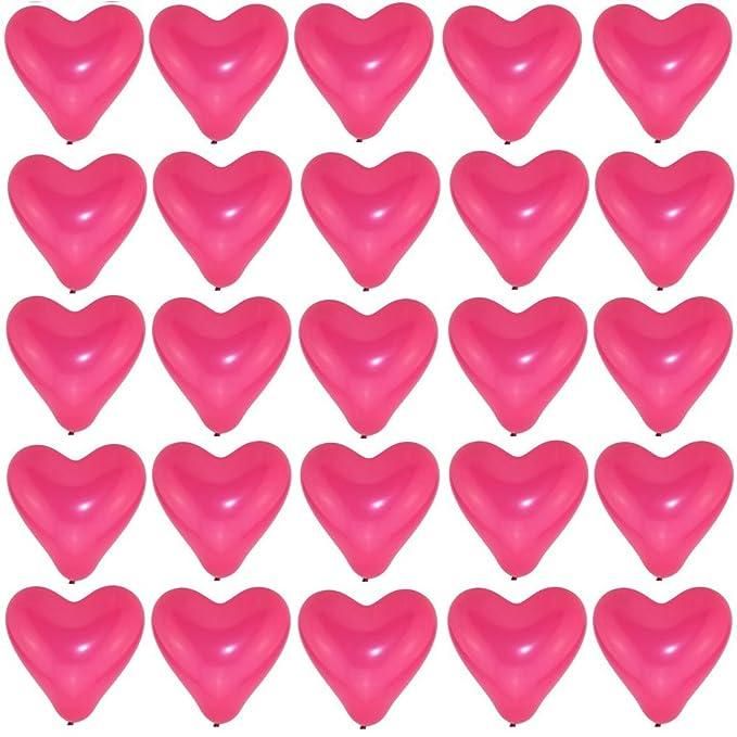 50 große Herzballons schwarz weiß Luft und Ballongas geeignet Herzen 30cm